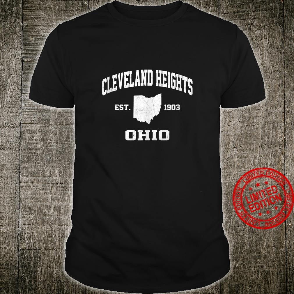 Cleveland Heights Ohio OH vintage state Athletic style Shirt