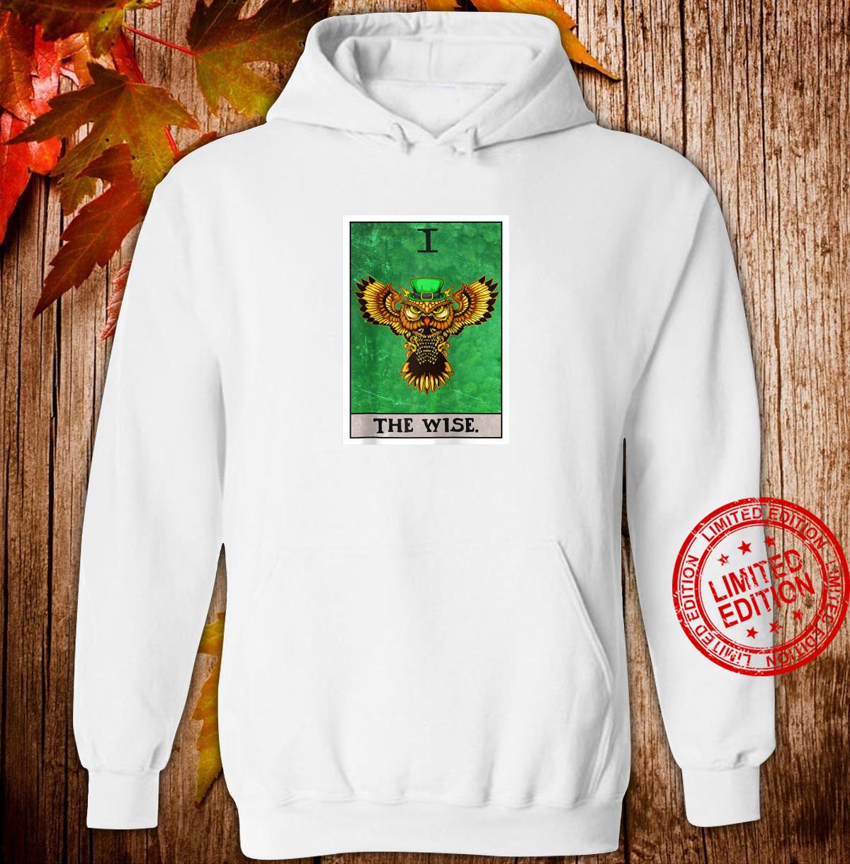The Wise Tarot Card Aesthetic Owl St Patrick's Day Shirt hoodie