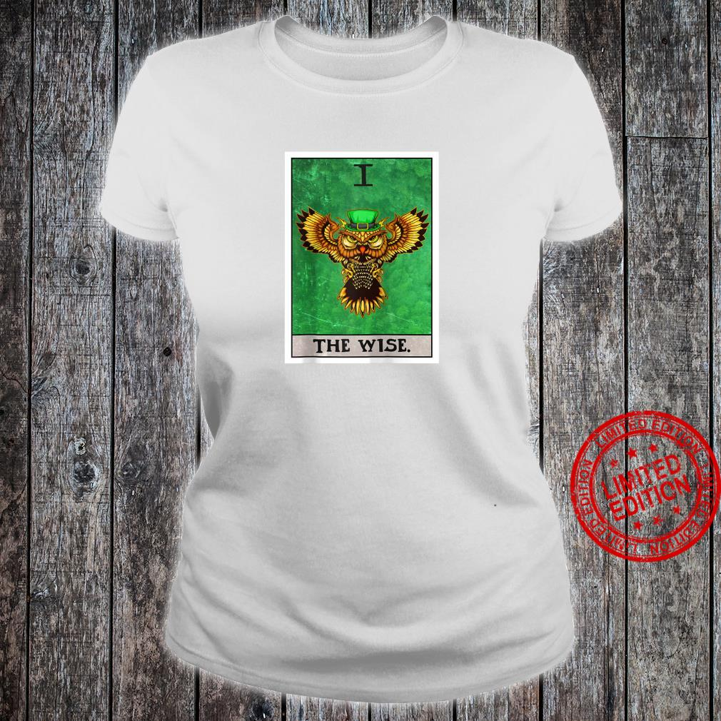 The Wise Tarot Card Aesthetic Owl St Patrick's Day Shirt ladies tee