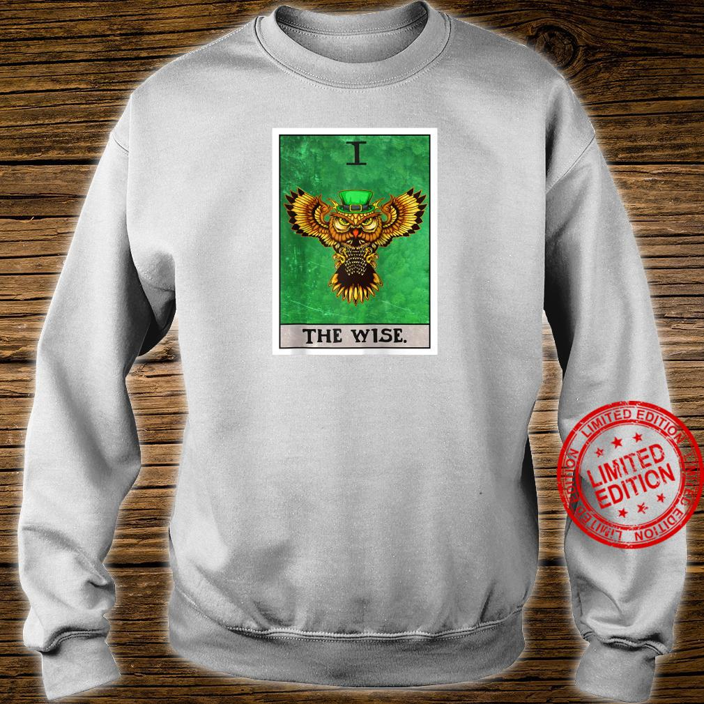 The Wise Tarot Card Aesthetic Owl St Patrick's Day Shirt sweater