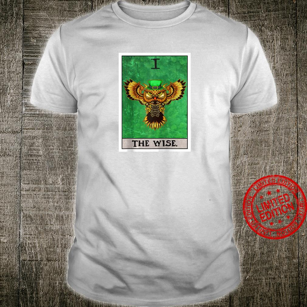 The Wise Tarot Card Aesthetic Owl St Patrick's Day Shirt